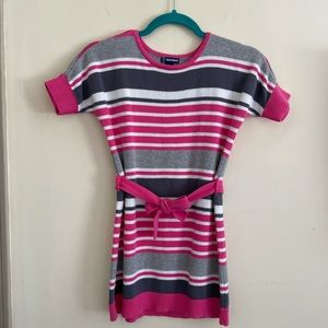 Old Navy girls sweater tunic dress striped size S